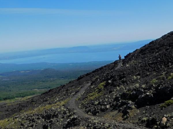 Vista hacia el lago Villarrica