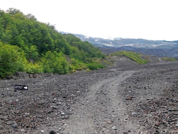 Cruce hacia los laguitos de Challupén