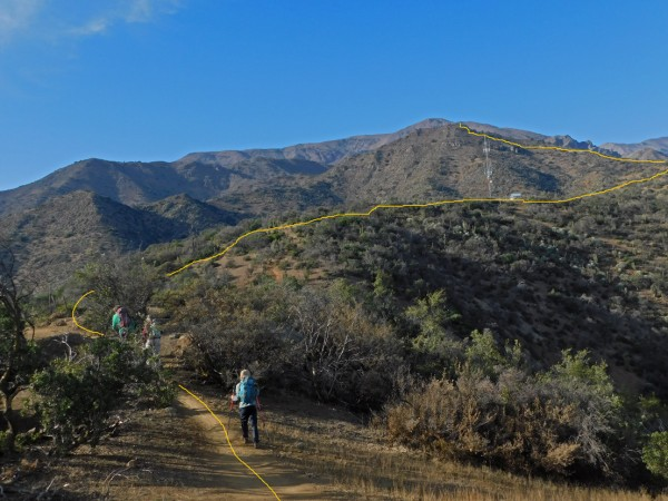 Vista de la ruta