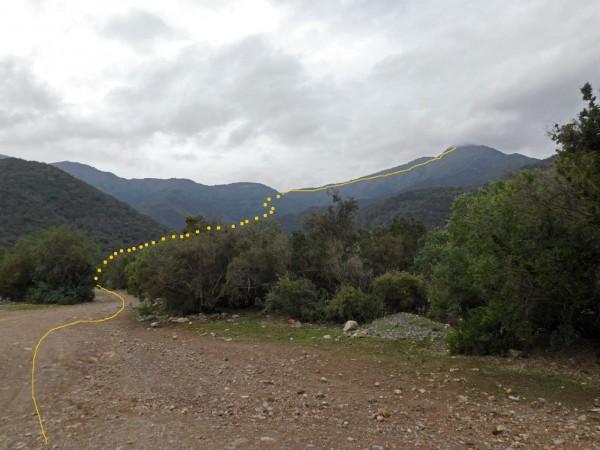 Vista de la ruta desde el camino minero