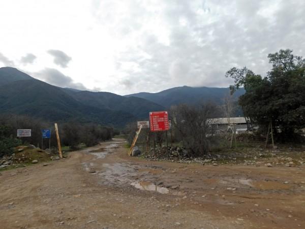 Entrada al camino minero