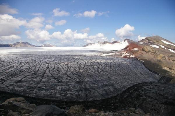 Vista del Glaciar Sollipulli